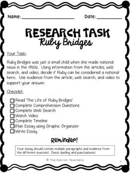 Ruby Bridges - Research Simulation Task