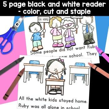 Ruby Bridges Black History Simple Reading Activity for Kindergarten
