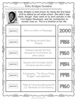 Ruby Bridges Timeline FREEBIE - Black History Month