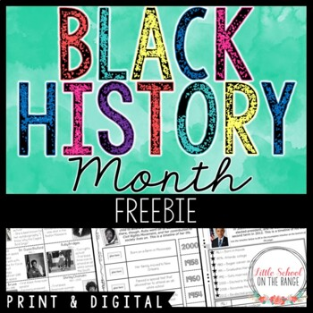 Ruby Bridges Timeline FREEBIE - Black History Month