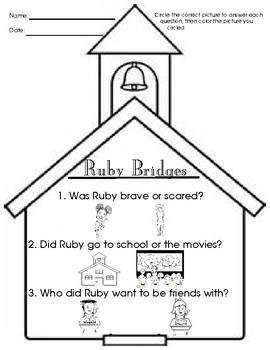 Ruby bridges worksheet resultinfos for Ruby bridges coloring pages