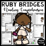 Ruby Bridges Biography Reading Comprehension Worksheet, Integration, Civil Right