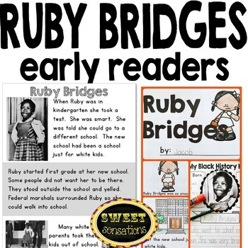 Ruby Bridges craft and reading activities (Black History; character traits)