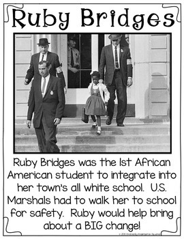Ruby Bridges for Early Learners: Black History Month