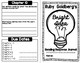 Ruby Goldberg's Bright Idea Reading Response Journal