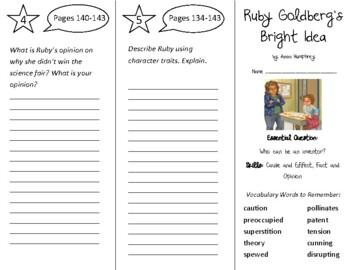 Ruby Goldberg's Bright Idea Trifold - Open Court 4th Grade Unit 2 Lesson 2