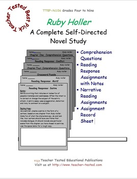 Ruby Holler: A Complete Novel Study