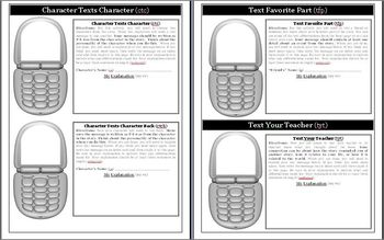 Ruby Holler by Sharon Creech Text Messaging Activity
