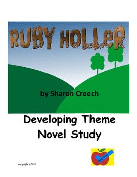 Ruby Holler by Sharon Creech a theme based novel study