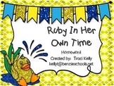 Ruby In Her Own Time Homework - 1st grade Scott Foresman