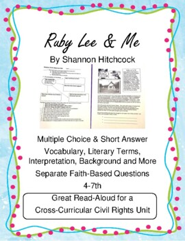 Ruby Lee & Me Coming of Age, Civil Rights, Black History o