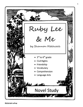 Ruby Lee & Me Novel Unit