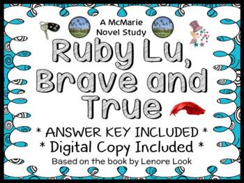 Ruby Lu, Brave and True (Lenore Look) Novel Study / Comprehension (28 pages)