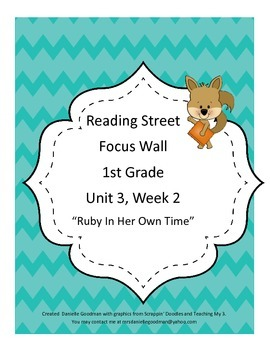 Ruby in Her Own Time Focus Wall Posters 1st Grade Reading Street CC 2013