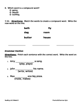 Ruby in Her Own Time Phonics & Grammar:ng, nk, Compound Words; Verbs that add -s