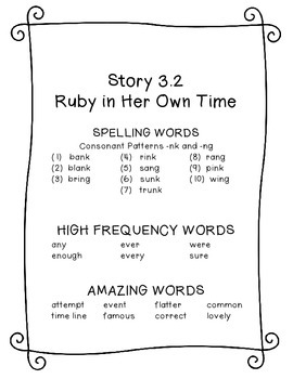 Ruby in Her Own Time Printable Resources