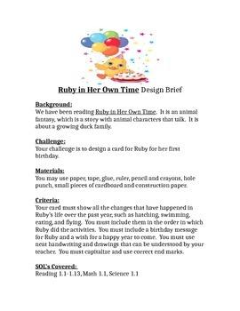 Ruby in Her Own Time STEM Children's Engineering Design Brief