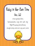 Ruby in Her Own Time, ng & nk word sort