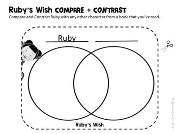 Ruby's Wish Interactive Notebook Differentiated Reading Activities w/ Test Prep