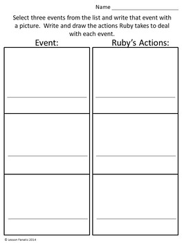 Ruby the Copycat:  A Printable Unit and Sub Plans