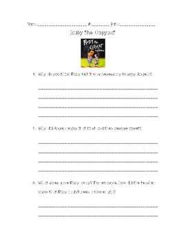 Ruby the Copycat Comprehension Questions