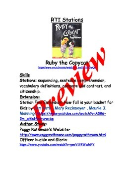 Ruby the Copycat Unit adapted from Text Talk