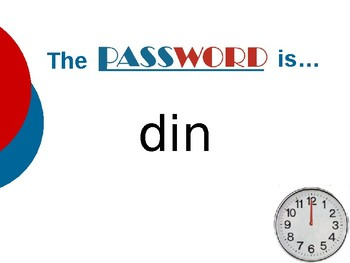 A Pen Pal for Max - Vocabulary Password