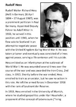Rudolf Hess Handout