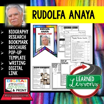 Rudolfa Anaya Biography Research, Bookmark Brochure, Pop-Up, Writing