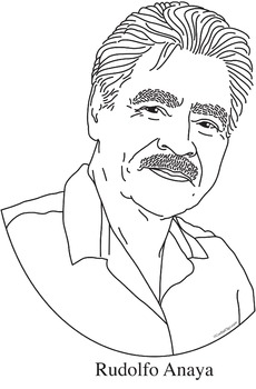 Rudolfo Anaya Realistic Clip Art, Coloring Page, and Poster