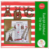 Rudolph Alphabet Clip Cards and Worksheets