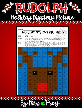Rudolph Christmas / Holiday 120 Chart Mystery Picture