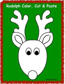 Rudolph Color, Cut & Paste