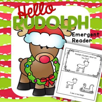 Rudolph Reindeer Emergent Reader FREE Christmas