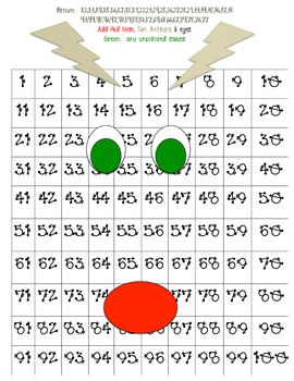 Rudolph Hidden Picture for 100 chart