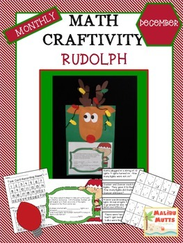 Rudolph Math Craftivity - December CCA