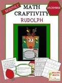 Rudolph Math Craftivity - December CCA