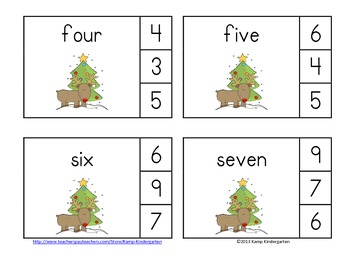 Rudolph Nose Numerals to 20 Christmas Math Centers