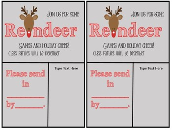 Rudolph Party Invitation