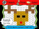 Rudolph Place Value Practice - Watch, Think, Color Game!