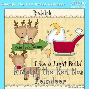 Rudolph Reindeer Clip Art  C. Seslar