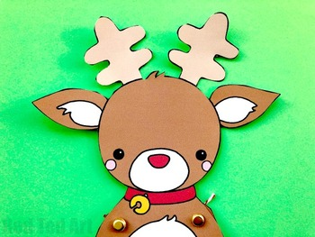 Rudolph Reindeer for Christmas Fun -STEAM Craft Activity (Lesson Plan&Printable)