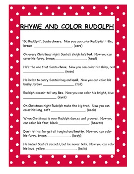 Rudolph Rhyme and Color