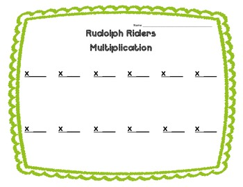 Rudolph Riders Two Digit by Two Digit Multiplication Center