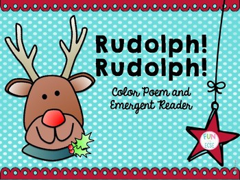 Rudolph, Rudolph Color Poem and Emergent Reader