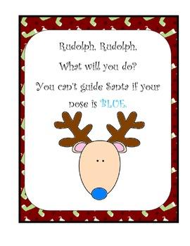 Christmas Activity - Rudolph Rudolph - Poem - Make a Book