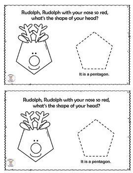 Math- 2D Shapes- Rudolph, Rudolph, With Your Nose So Red
