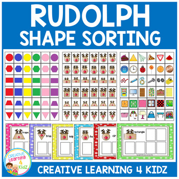 Rudolph Shape Sorting Boards Christmas