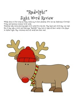 Rudolph Sight Word Game
