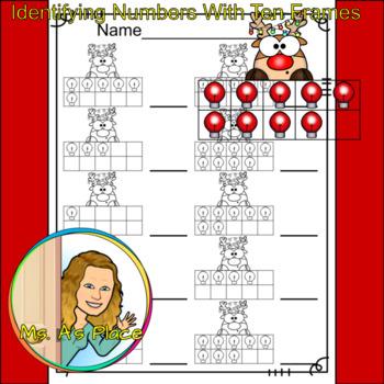 Rudolph Ten Frames/Number Recognition